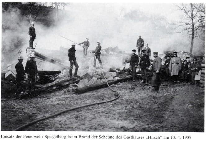 Einsatz 1905 Hirsch | Freiwillige Feuerwehr Spiegelberg