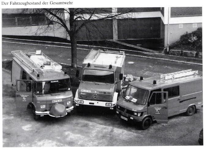 Fahrzeugbestand April 1994 | Freiwillige Feuerwehr Spiegelberg