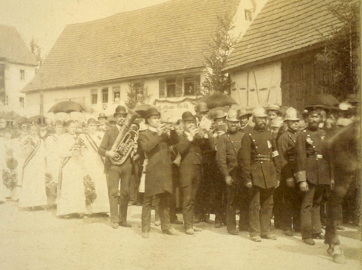 Festumzug in Jux 1888 | Freiwillige Feuerwehr Spiegelberg