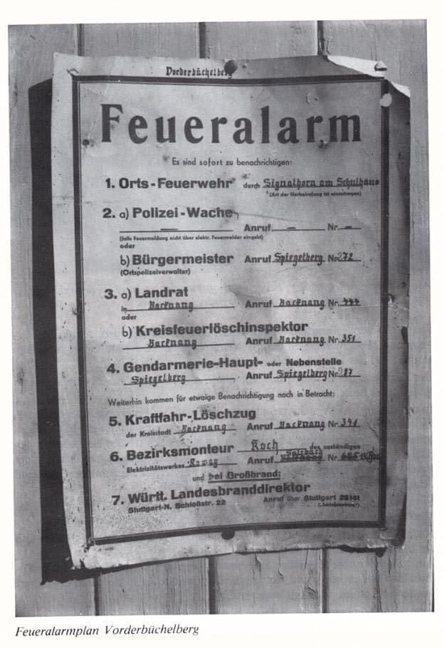 Feueralarmplan_Vorderbüchelberg | Freiwillige Feuerwehr Spiegelberg