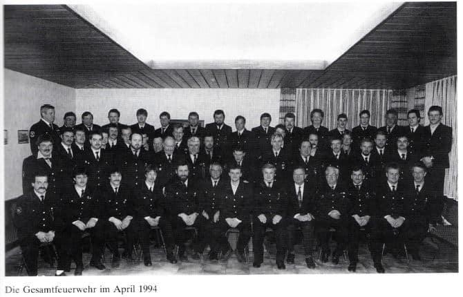 Gesamtfeuerwehr April 1994 | Freiwillige Feuerwehr Spiegelberg