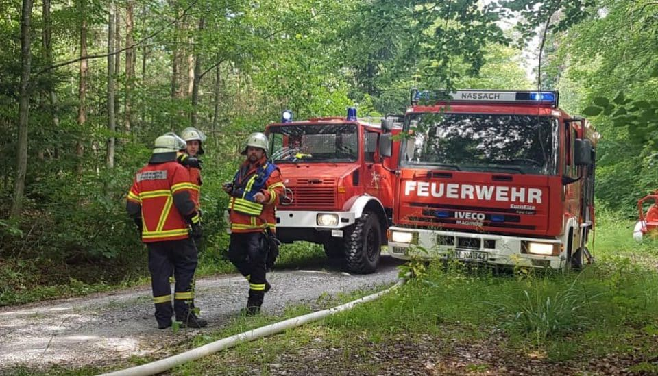 Waldbrandübung | Freiwillige Feuerwehr Spiegelberg