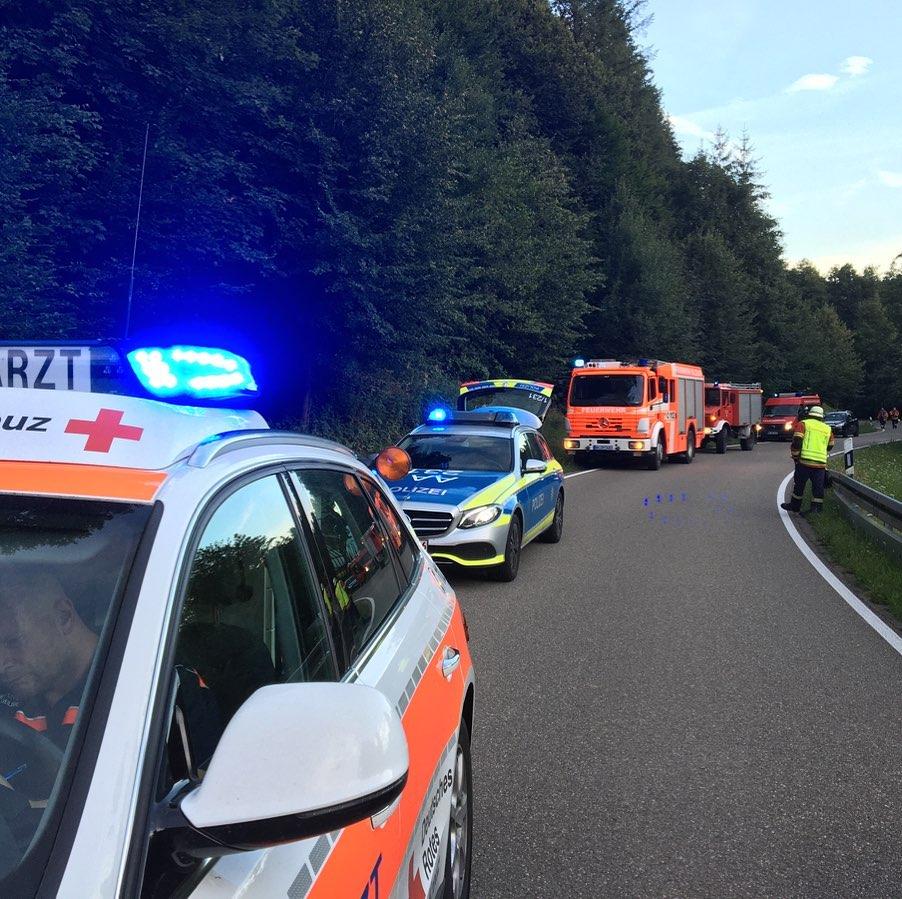 Verkehrsunfall Feuerwehr Spiegelberg