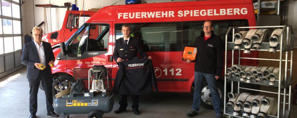 Feuerwehr Spiegelberg erhält große Unterstützung durch den Förderverein
