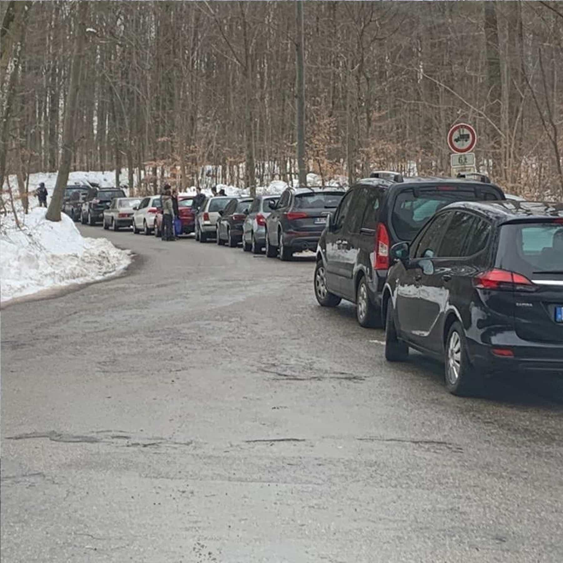 Parksituation in Spiegelberg