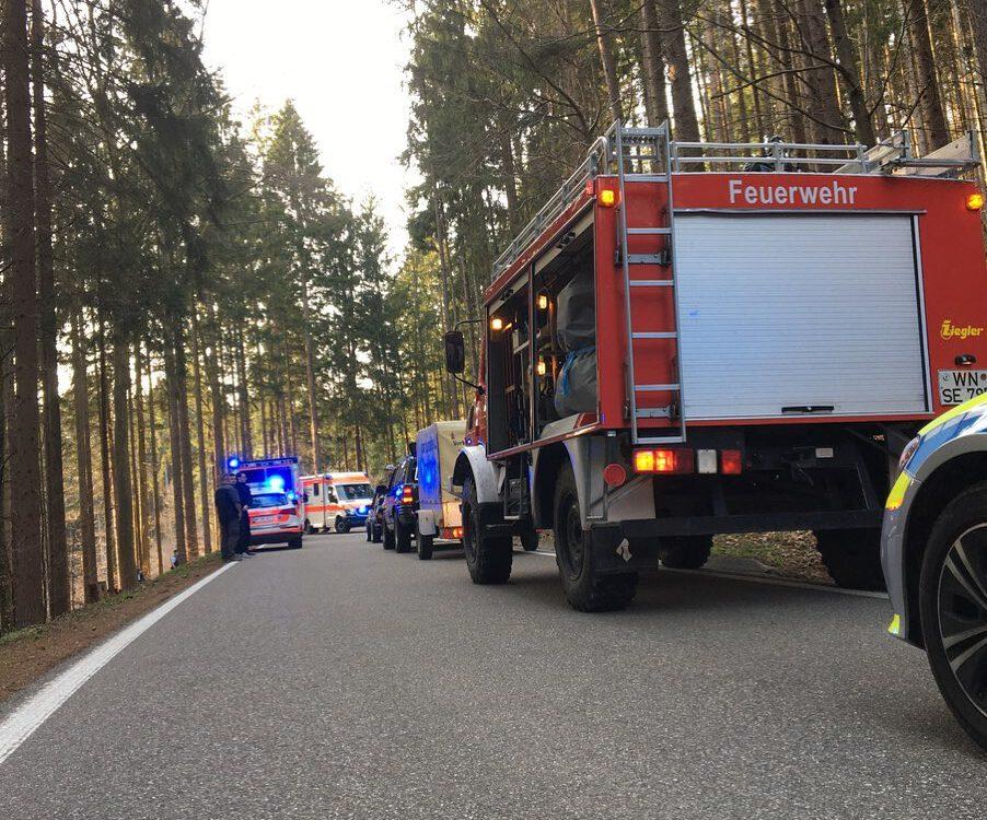 Motorradunfall Feuerwehr Spiegelberg